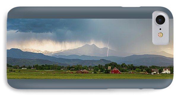 IPhone 7 Case featuring the photograph Incoming Storm Panorama View by James BO Insogna