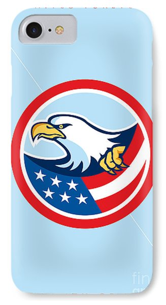Independence Day Greeting Card-american Bald Eagle Clutching Flag  IPhone Case