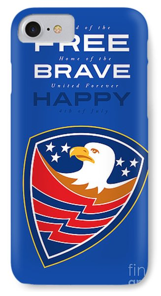 Independence Day Greeting Card American Bald Eagle Flag  IPhone Case