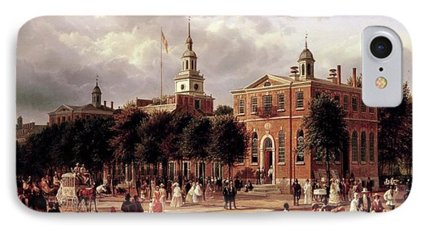 IPhone Case featuring the painting Independence Hall by Ferdinand Richardt