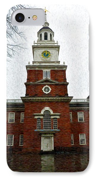 Independence Hall In Philadelphia Phone Case by Bill Cannon