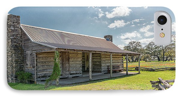 Independence Texas Cabin IPhone Case by Victor Culpepper