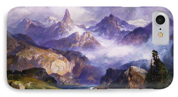 Index Peak Yellowstone National Park Phone Case by Thomas Moran