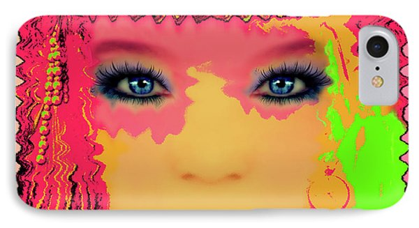 Indian #193 IPhone Case by Barbara Tristan