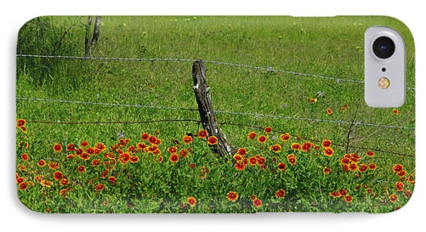 Indian Blanket Fence IPhone Case by Robyn Stacey