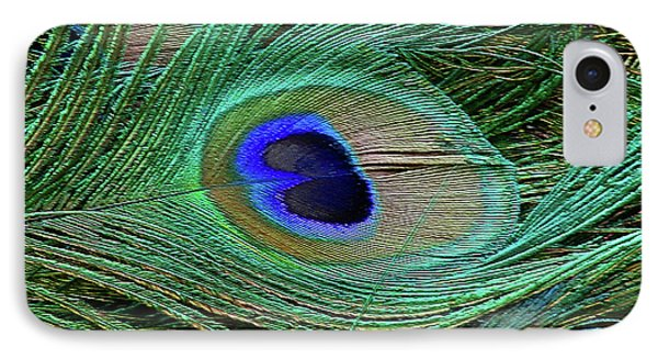 Indian Blue Peacock Macro IPhone Case