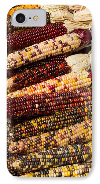IPhone Case featuring the photograph Indian Corn by Dick Botkin