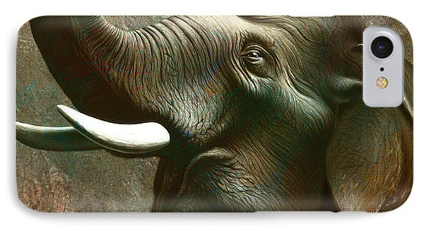 Indian Elephant 2 IPhone Case by Jerry LoFaro