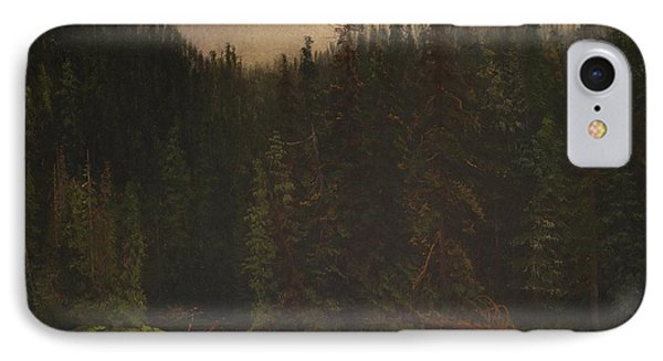 Indian  Hunters  In  Canoe IPhone Case by Celestial Images