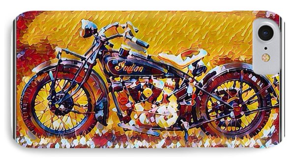 Indian Motorcycle Colorful  IPhone Case