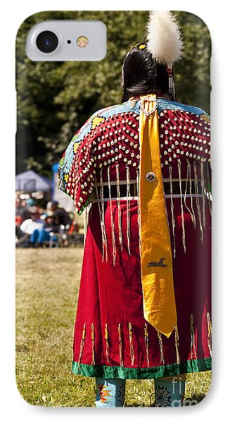 Indian Nation Pow Wow Dancers IPhone Case by Jim Corwin
