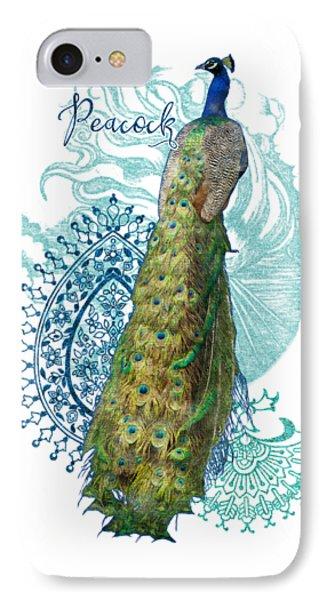 Indian Peacock Henna Design Paisley Swirls IPhone Case