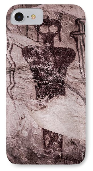 Indian Shaman Rock Art IPhone Case by Gary Whitton