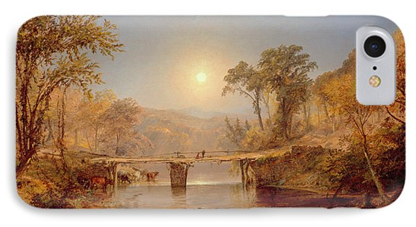 Indian Summer On The Delaware River IPhone Case by Jasper Francis Cropsey