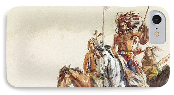 Indian War Party IPhone Case by Charles Marion Russell