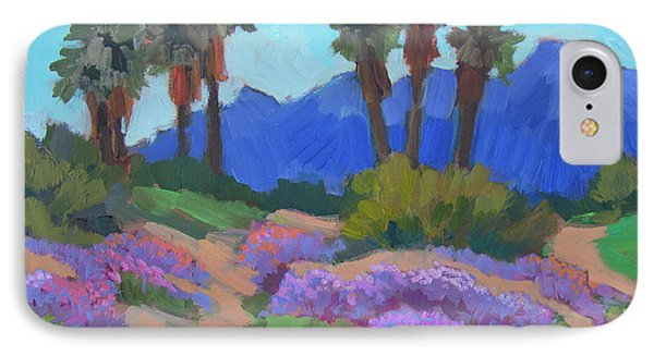 IPhone Case featuring the painting Indian Wells Verbena by Diane McClary