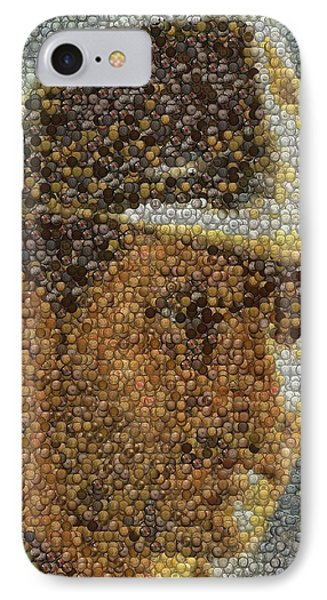 IPhone Case featuring the mixed media Indiana Jones Treasure Coins Mosaic by Paul Van Scott