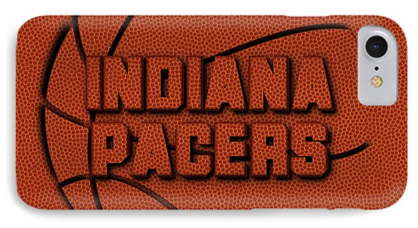 Indiana Pacers Leather Art IPhone Case by Joe Hamilton