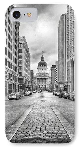 Indiana State Capitol Building Phone Case by Howard Salmon