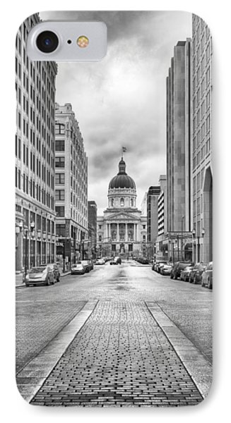 Indiana State Capitol Building IPhone Case by Howard Salmon