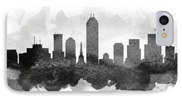 Indianapolis Cityscape 11 IPhone Case by Aged Pixel
