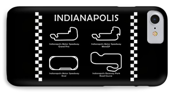 Indianapolis Courses IPhone Case by Mark Rogan