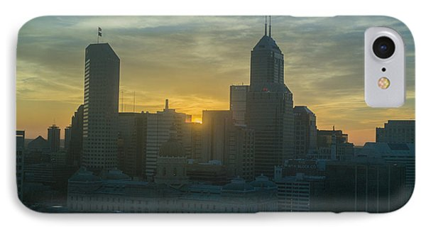 Indianapolis Indiana Skyline 19fa IPhone Case by David Haskett