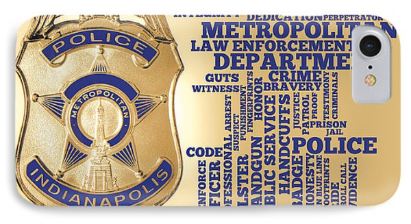 Indianapolis Metropolitan Police Department Gold IPhone Case by Dave Lee