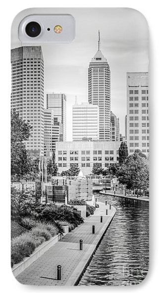 Indianapolis Skyline Black And White Photo IPhone Case by Paul Velgos