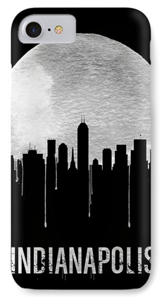 Indianapolis Skyline Black IPhone Case by Naxart Studio