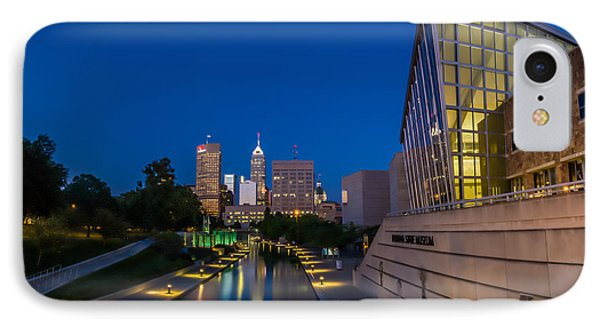Indianapolis Skyline From The Canal At Night Phone Case by Ron Pate