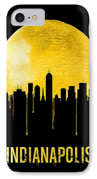 Indianapolis Skyline Yellow IPhone Case by Naxart Studio
