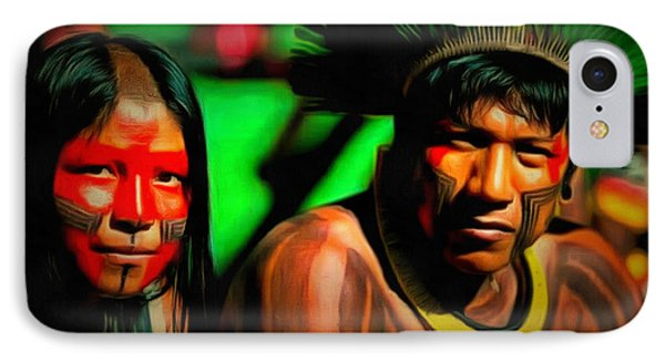 Indians Of Brazil - Pa IPhone Case by Leonardo Digenio