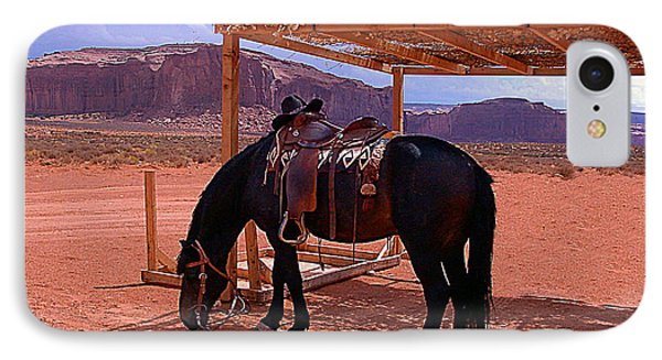 Indian's Pony In Monument Valley Arizona IPhone Case by Merton Allen