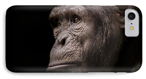 Chimpanzee iPhone 7 Case - Indignant by Paul Neville