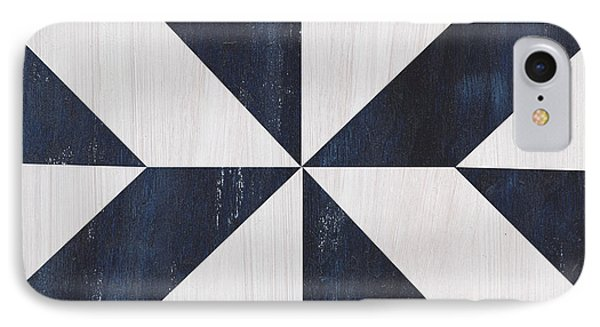 Indigo And Blue Quilt IPhone Case by Debbie DeWitt