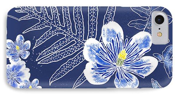 Indigo Batik Tile 3 - Laua'e IPhone Case