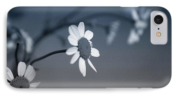 Indigo Daisies 1- Art By Linda Woods IPhone Case by Linda Woods