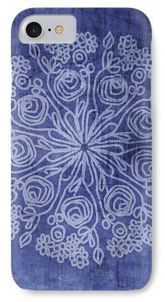 Indigo Mandala 2- Art By Linda Woods IPhone Case