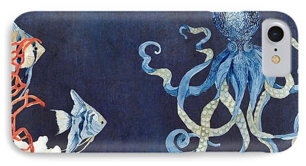 Indigo Ocean - Floating Octopus IPhone Case