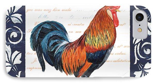 Indigo Rooster 1 IPhone 7 Case by Debbie DeWitt