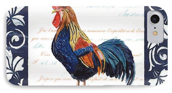 Indigo Rooster 2 IPhone 7 Case by Debbie DeWitt