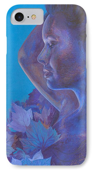 IPhone Case featuring the painting Indigo Serene by Ragen Mendenhall