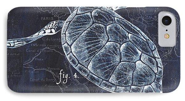 Turtle iPhone 7 Case - Indigo Verde Mar 2 by Debbie DeWitt