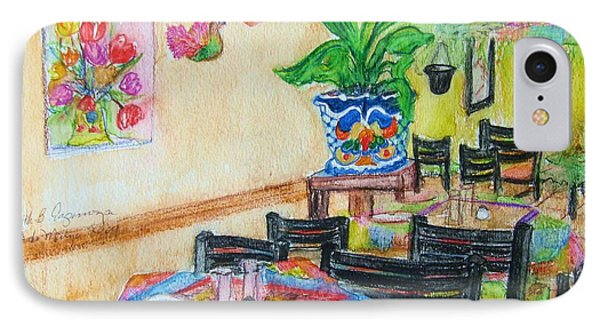 Indoor Cafe - Gifted IPhone Case by Judith Espinoza