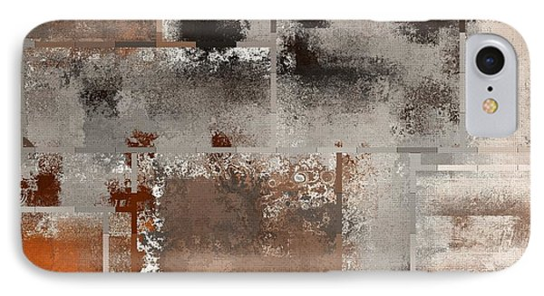 Industrial Abstract - 01t02 IPhone Case by Variance Collections