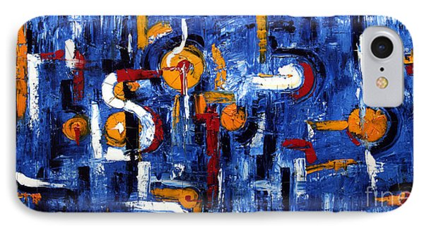 IPhone Case featuring the painting Industrial Abstract by Arturas Slapsys
