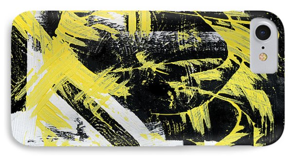 Industrial Abstract Painting I IPhone Case by Christina Rollo