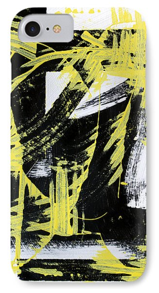 Industrial Abstract Painting II IPhone Case by Christina Rollo