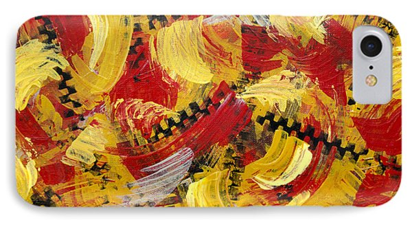 Industrial Abstract Painting IIi IPhone Case by Christina Rollo